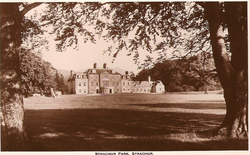Strachur House with Standing Stone