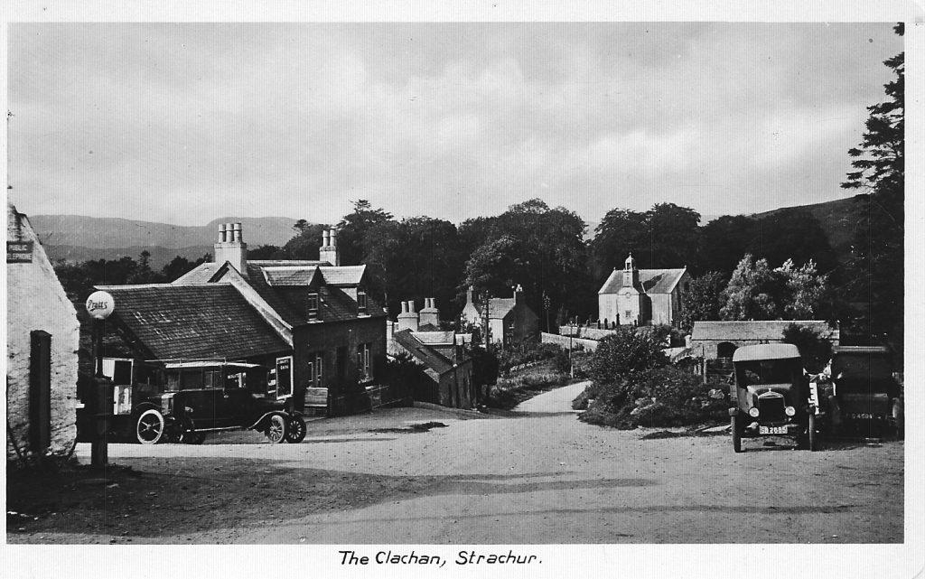 Clachan, Strachur, Petrol Pumps, Cars, Clachan Shop, Ivy Cottage, The Old Inn, The Church, The Old Inn Barn