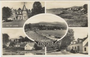 post card showing various views of Strachur and District