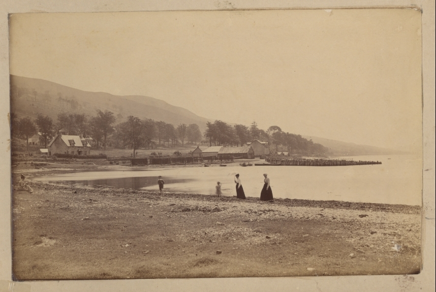 View of Bay, Ladies on the Beach