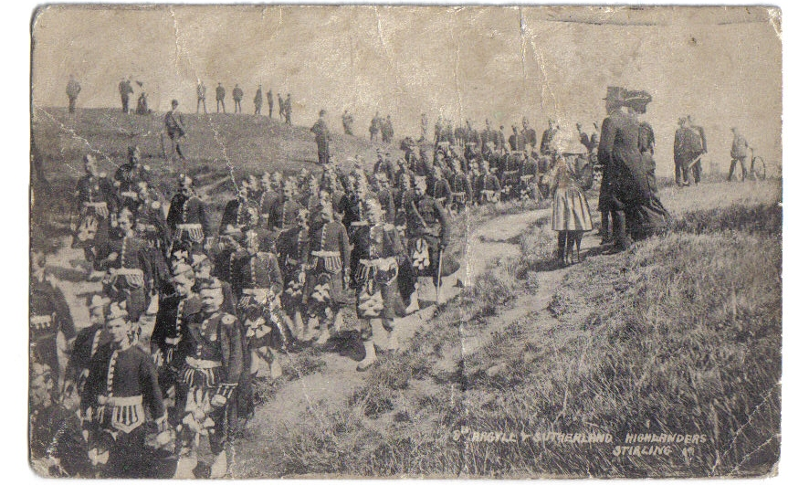 Strachur and District Volunteers during a march with 8th Argyll and Sutherland Highlanders