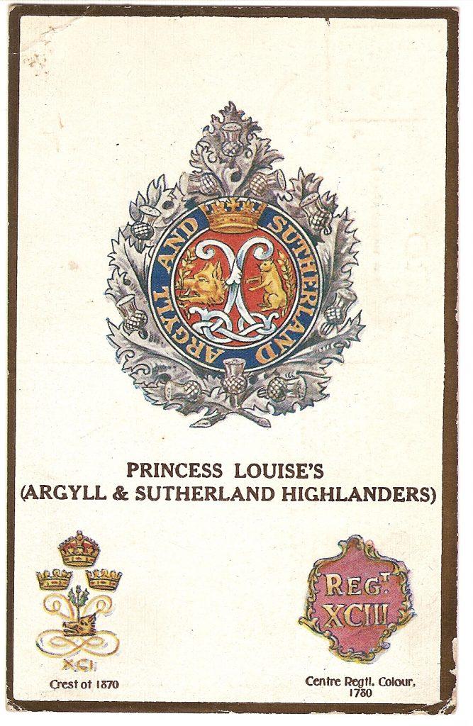 Post Card showing volunteers badge