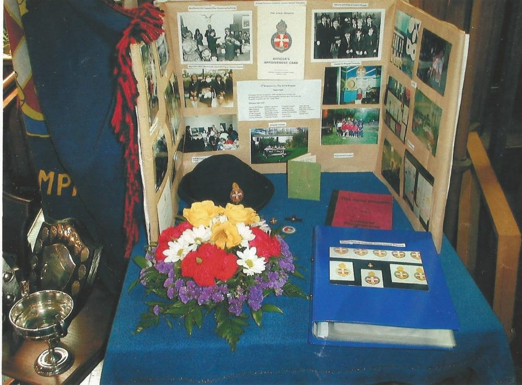 Display of 1st Strachur Co. Girl's Brigade