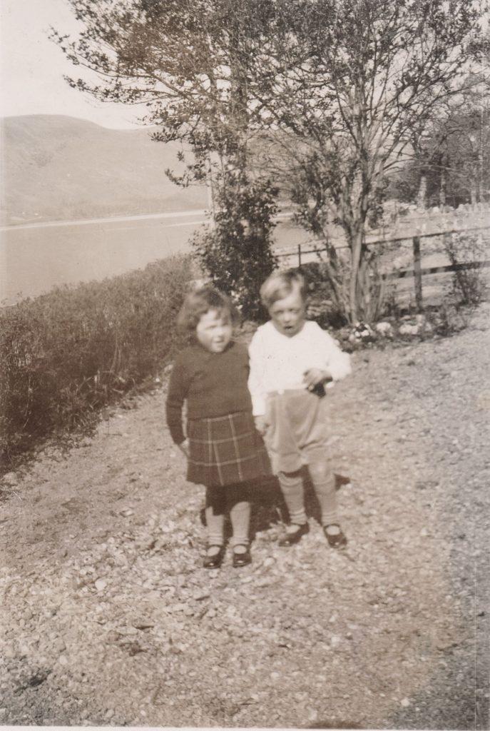 Photo of Myra and John McNab at Poll School 1940