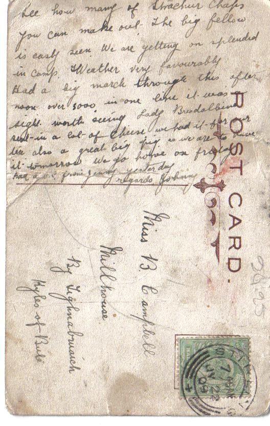 Information on back of postcard V1-002