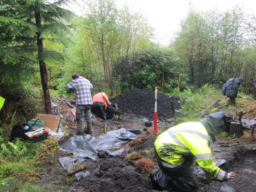 Bloomery Dig at Loch Eck