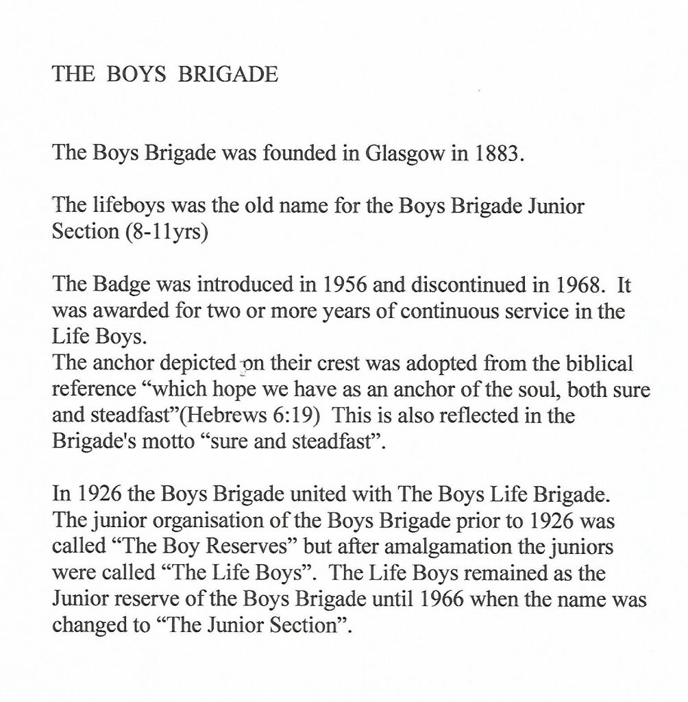 information on The Boys Brigade