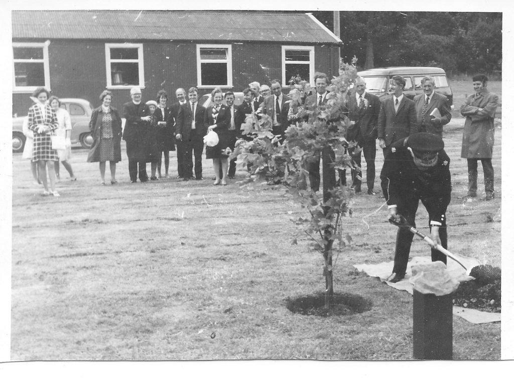 Commemoration tree planted at Glenbranter Forestry Workshop