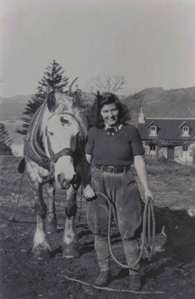 Margaret Campbell with Dolly the horse