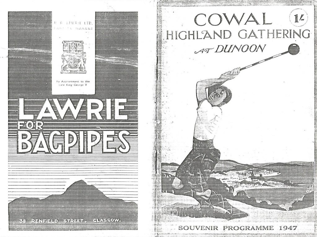programme cover of Cowal Games 1947