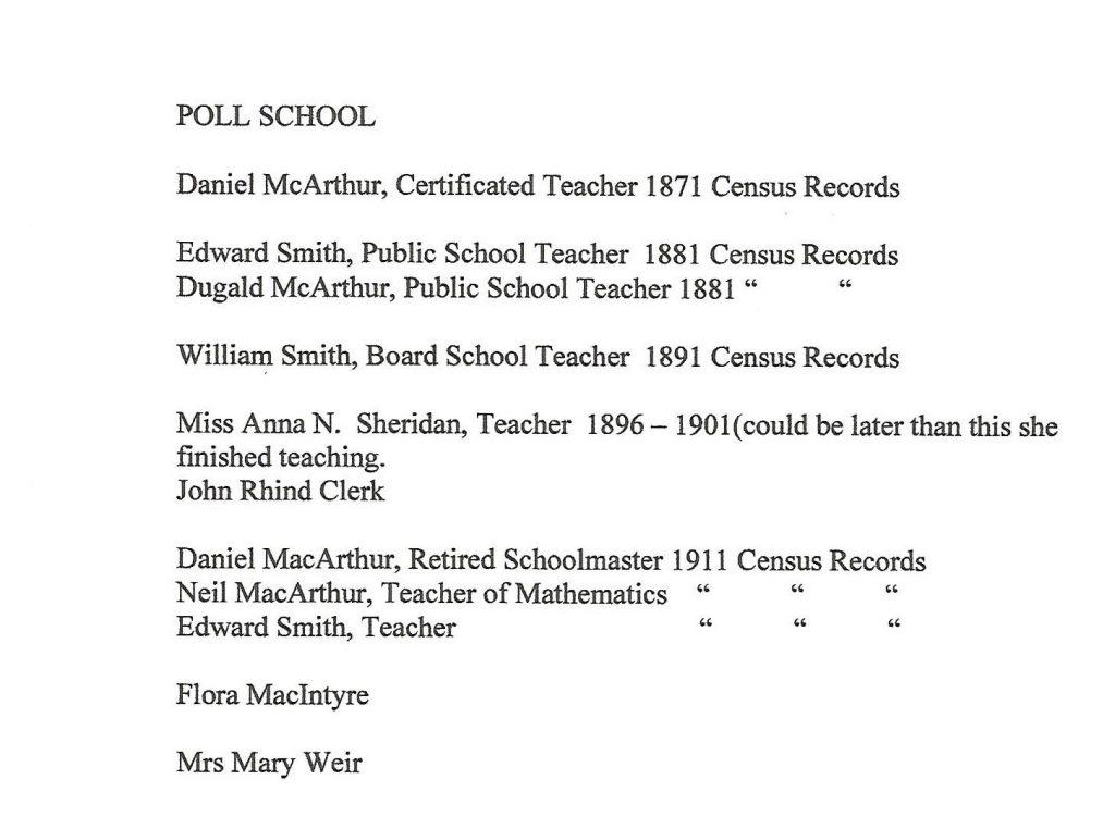Poll School Staff