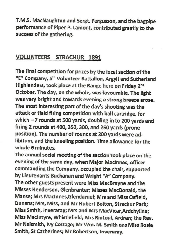 Information on The Volunteers