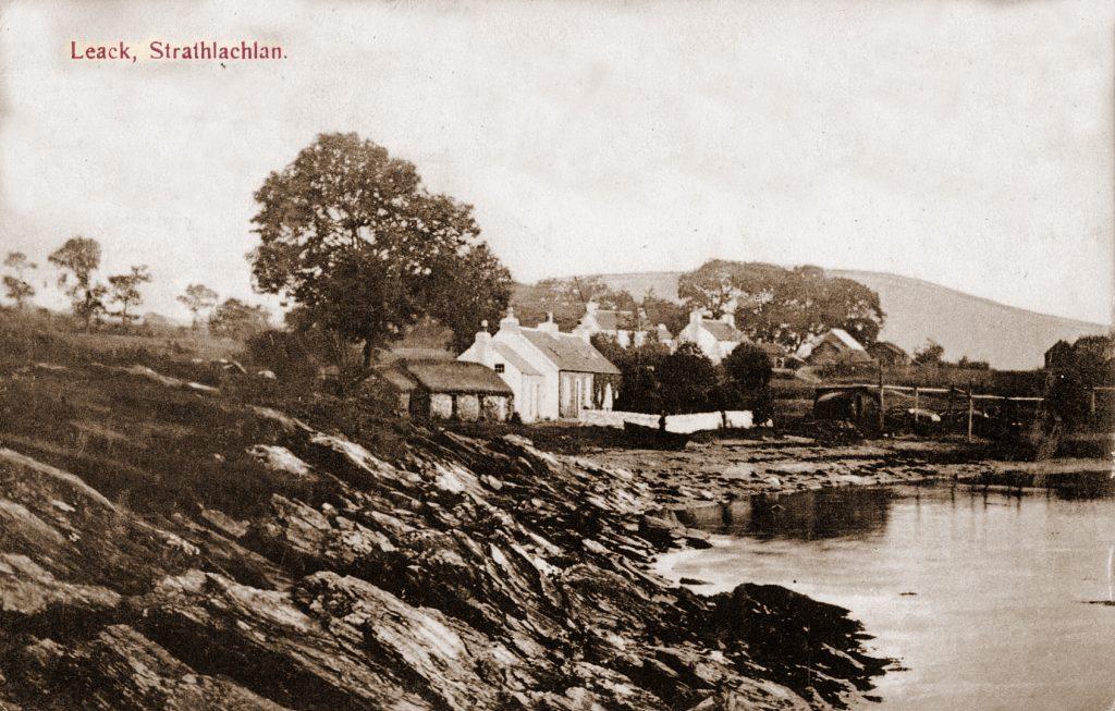 Mrs. Blair ran the Post Office in Leachd