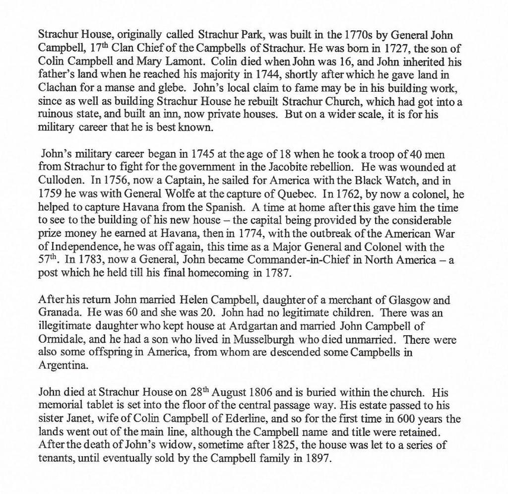 Information on General John Campbell