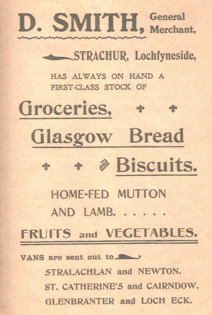 Advert for David Smith's Shop