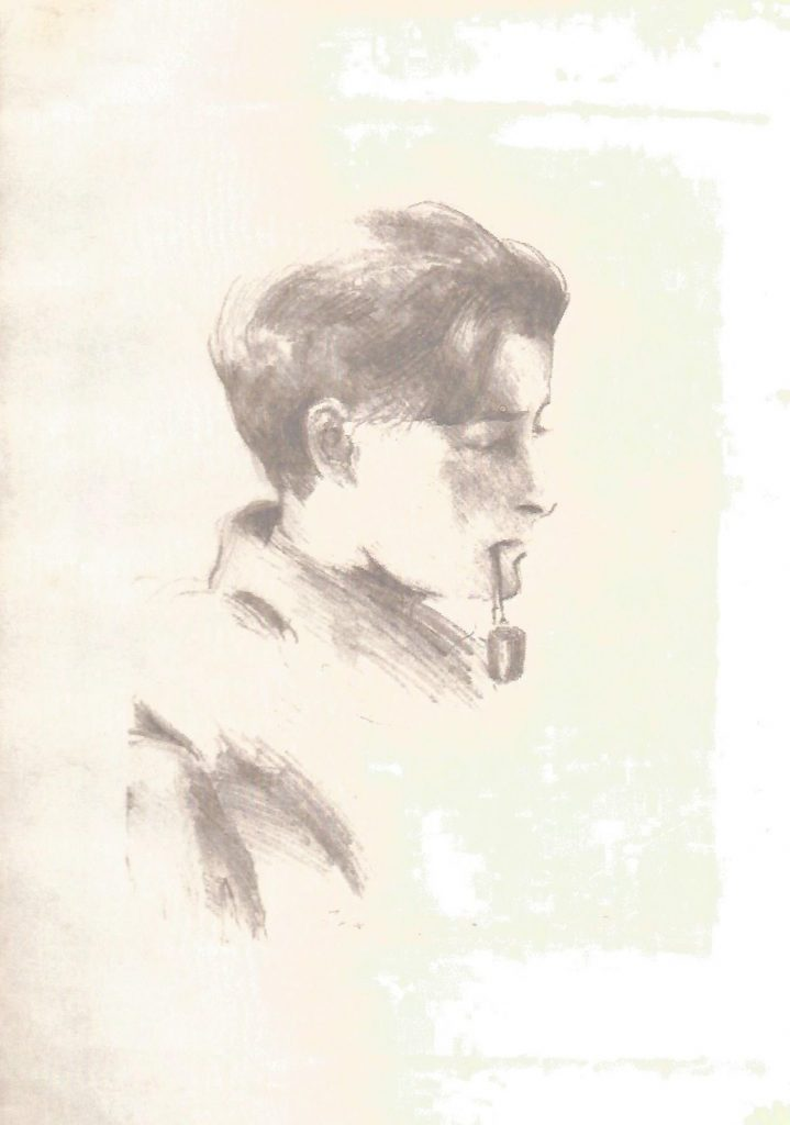 Ivar Campbell sketched by Cadell